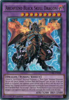 Archfiend Black Skull Dragon